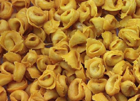 Tortellini in crosta di parmigiano