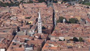 Vista del centro di Modena